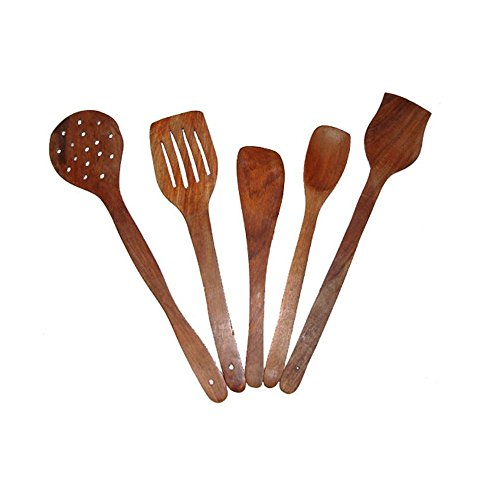 Desi Karigar Brown Wooden Skimmer Set Of 5  available at amazon for Rs.274
