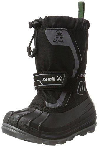 Kamik Unisex-Kinder SNOWCOAST4 Schneestiefel, Schwarz (Black-Noir Blk), 36 EU