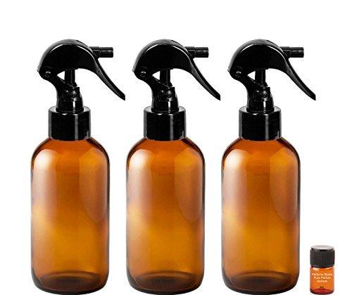 daa50fe101a0 TRIGGER Sprayer Bottles - 4 oz Bottle and a Perfume Studio® Top Seller  Body Oil Sample Vial (3, 4 oz Amber Glass Bottles, 1 Perfume Oil ...