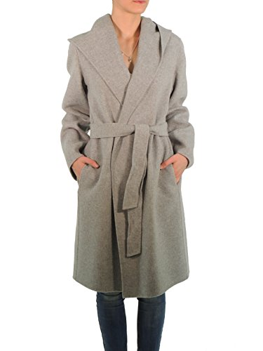 MaxMara Weekend HARLEM cappotto donna trench in lana con cinta made in Italy (44, GRIGIO)