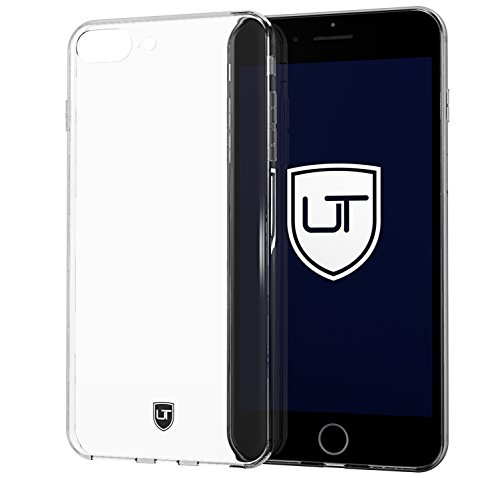 iPhone 7 Plus / 8 Plus Silikon-Hülle Case Durchsichtig ** Ultra-Slim & Leicht ** Kein Vergilben ** Perfekte Passform ** Soft Slimcase Skin Transparent by UTECTION® (Tech Armor Apple Iphone 6 Fall)