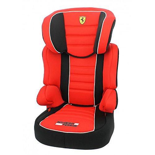 Mycarsit Rehausseur avec dossier Ferrari, Groupe 2/3 (de 15 à36 kg), Rouge