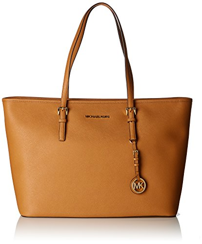Michael Kors Damen Jet Set Travel Tote, Braun (Acorn), 12.7x29.2x43 centimeters - Kollektion Zip Tote