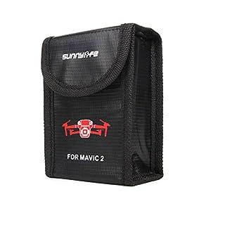 Anbee Mavic 2 Lipo Battery Safe Bag Fireproof Storage Bag for DJI Mavic 2 Zoom/Pro Drone [3-Sizes] (Small, For 1pc Battery)