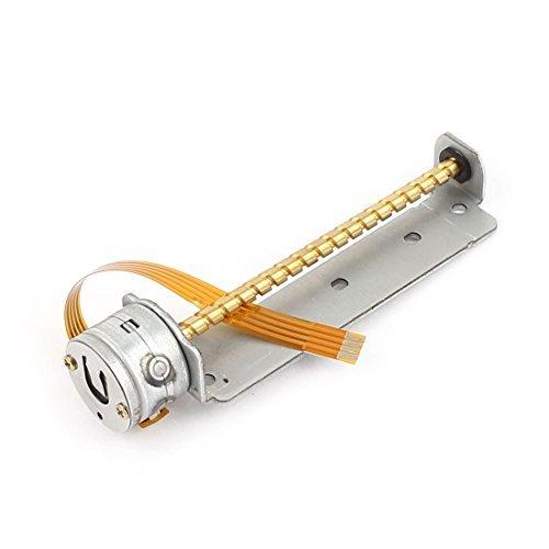56mm x 3mm Schraubenwelle 2 Draht der Phase 4 Micro-Schritt-Schrittmotor DC 3-6V -