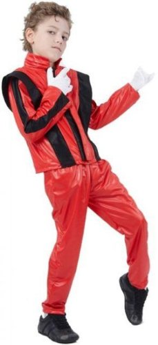 80er Michael Jackson Thriller Childs Fancy Kleid Kostüm, L 146 cms (Children's 80's Kostüm)