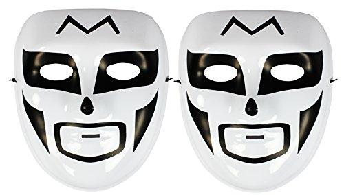 com-four® Maske Japanischer Soldat für Karneval Fasching - 2 Stück (02 Stück - Japanischer Soldat)