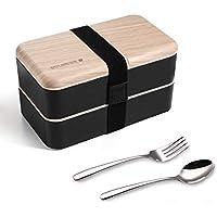 Boîte bento Repas Boîte à Lunch Boîte à Déjeuner gouter Bundle Divider Style Japonais Lunch Box avec Une cuillère et Une…