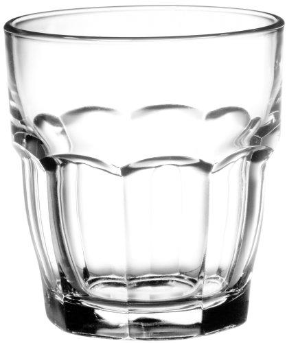 Bormioli Rocco Rock Bar Transparent Rocks Wasserglas 270ml, stapelbar, gehärtetes Glas, 6 Stück Bormioli Rocco Rock Bar