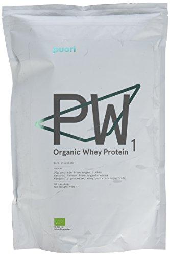 Puori PW1 Organic Whey Protein Shake [Eiweiß Pulver für Schneller Muskelaufbau] 100% Bio Mass Gainer [Pre Workout Fitness Booster Drink] 900gr/30 Tage - Whey Protein Booster Schokolade
