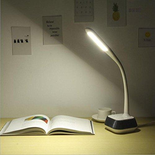 Led Tischlampe Bluetooth Musik Zwei-Kanal Audio Stereo Lautsprecher 5 Modi Touch Dimmer Schlauch Lampe Arm Schreibtisch Licht Leistung: Light 3W + Sound 7W -