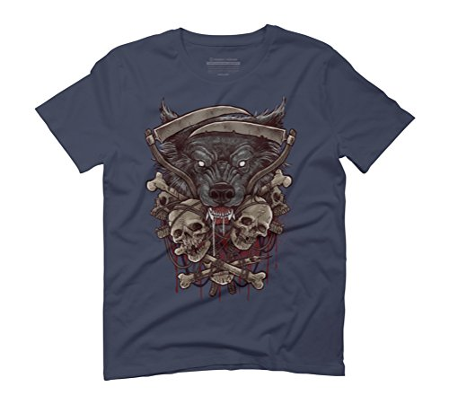Wolf Men's Graphic T-Shirt - Design By Humans Navy