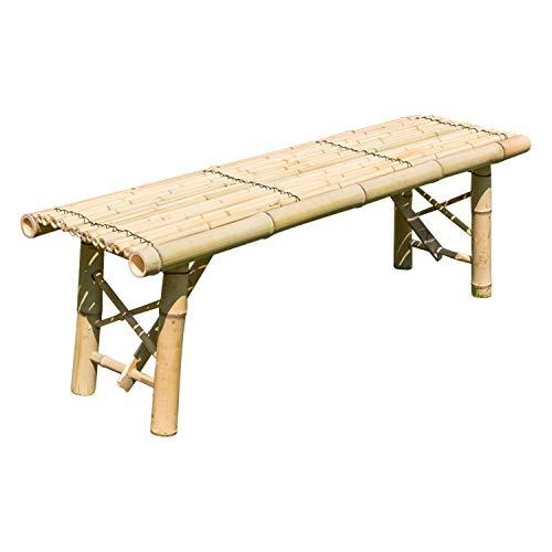 Homestyle4u 1031, Gartenbank Holz, Holzbank Natur Bambus, 120 CM