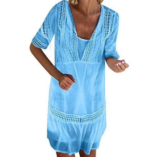 Das Beste Muttertagsgeschenk !!! Böhmisches Minikleid für Frauen, Pondkoo Fashion Damen Sexy...