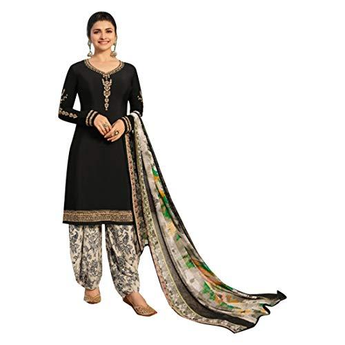 ETHNIC EMPORIUM Black Indische Bollywood Punjabi Salwar Shalwar Patiyala Patiala Hosen Traditionelle Salwar Kameez Kamiz Frauen Kleid Damen Girl hochzet 7489 Patiala Suit
