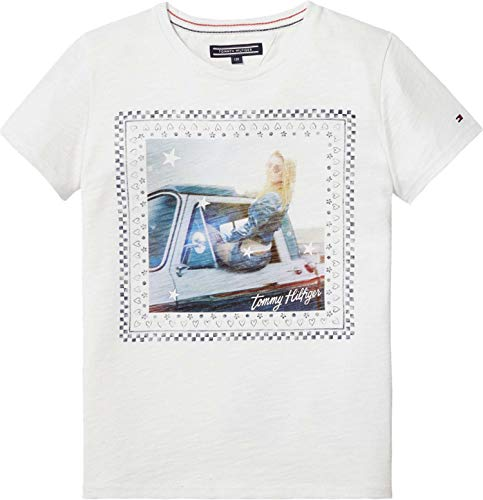 Tommy Hilfiger KG0KG03429 ANIMETED T-Shirt Chica Bright White 14Y