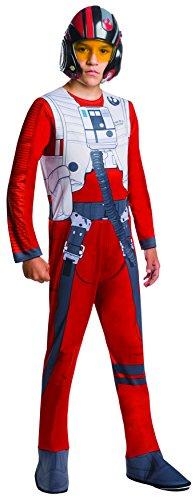 Rubie's Star Wars Force Awakens Poe Fighter Pilot Boys Fancy Dress Costume Medium (Pilot Boy Kostüm)