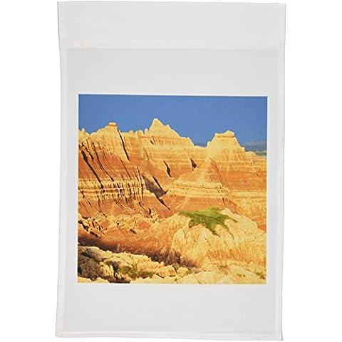 3dRose fl _ 92838_ 1Dakota del Sur, Badlands National parkus32jwi0542jamie y Judy salvaje jardín bandera, 12por 18pulgadas