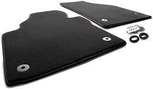 Fußmatten Passend Für Touran 1t Premium Velours Qualität Automatten 2 Teilig Vorn Schwarz Inkl Befestigung Auto