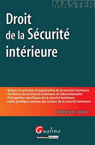 Master - Droit de la Sécurité intérieure