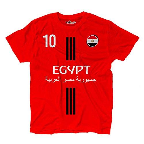 KiarenzaFD Camiseta Camiseta Fútbol Mohamed Selección Salah Egipto 10Streetwear, KTS01871-L-red, Rojo, Large