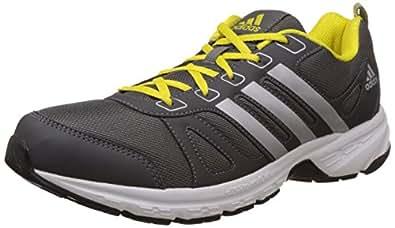 Adidas Men's Adi Primo 1.0 M Light Grey, Metallic Grey and Bright Yellow Mesh Running Shoes - 7 UK
