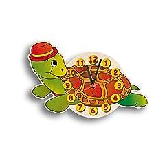 Idea Regalo - Dida - Orologio Tartaruga. Orologio da Parete in Legno per arredare la Camera dei Bambini.