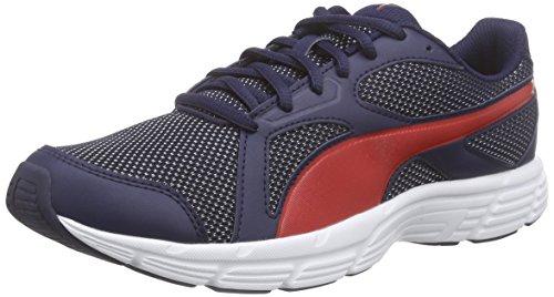 Puma Axis v4 Mesh, Sneakers basses mixte adulte Blau (peacoat-high risk red 04)