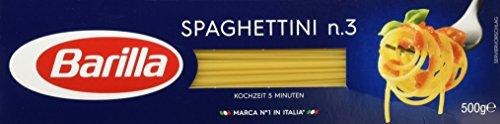 Barilla Hartweizen Pasta Spaghettini n. 3 – 1er Pack (1x500g)