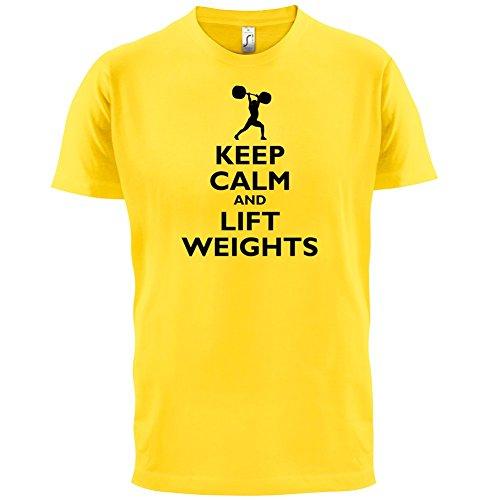 Keep Calm and Lift Weights - Herren T-Shirt - 13 Farben Gelb