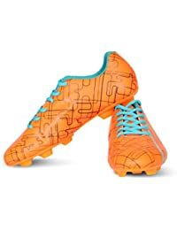 Vector X Chaser Kids Football Shoes (Orange-Black-Firozi)