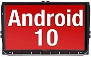 Vanku Android 10 Autoradio für VW Golf 5 6 Radio mit Navi 9 Zoll Touchscreen Unterstützt Qualcomm Bluetooth 5.