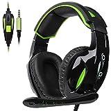 iShine Xbox One Gaming-Headset (3,5 mm Stereo verkabelt Over-Ear-Gaming-Headset mit Mikrofon und Geräuschunterdrückung und Lautstärkeregler für Xbox One/PC/Mac/PS4/ Tisch/Handy