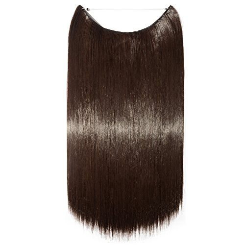 61 cm dritto in in filo trasparente hair extensions extension one pice regolabile senza clip in hairpieces