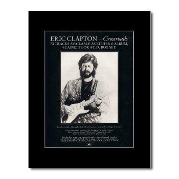 ERIC CLAPTON - Crossroads Matted Mini Poster -