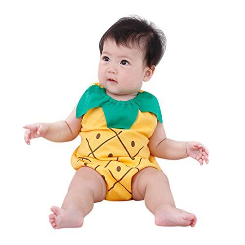 MRURIC❀ Baby Outfits Set Jungen-Mädchen-Karikatur-neugeborenes-reizende Bodysuit-Frucht-Erdbeerananas Strampler Outfits Sunsuit Spielanzug Bodys Einteiler Party Siamesische Tops