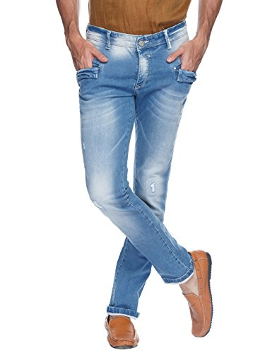 Spykar Mens Dark Blue Rover Fit Low Rise Jeans (actif)