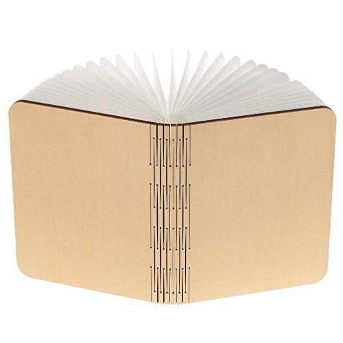 _ Lixada Libro Lampada Luce LED di legno Pieghevole Luci Booklight Decorative Lampada da Tavolo,Big Size,2500mAH,4.5W,500 Lumens Maggiore Luminosità confronta il prezzo