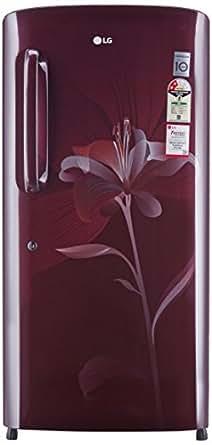 LG 215 L 2 Star Direct-Cool Single Door Refrigerator (GL-B221ASLV.DSLZEBN, Scarlet Lily)