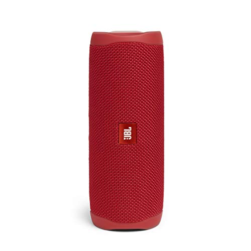 JBL Flip 5 - Enceinte Bluetooth Portable Robuste - Conception Étanche pour Piscine & Plage - 12 Heures d'Autonomie - Son Unique de JBL - Rouge