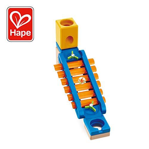Hape 6022 - Klingender Spielplatz, Zubehör für Quadrilla Kugelbahnen, Xylophon-Rutsche, ab 4 Jahren, mehrfarbig