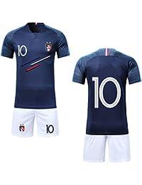 Ensembles de Sport Maillot de Football Garçon Manche Courte 2 étoiles Suit  ... 1019684b99838