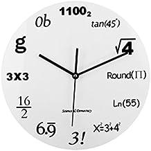 cf8dce9bca56 VORCOOL Fórmula matemática Creativa Reloj de Pared Digital Decoración del  hogar Regalo del Maestro para la