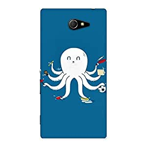 Neo World Funny Octopus Back Case Cover for Sony Xperia M2