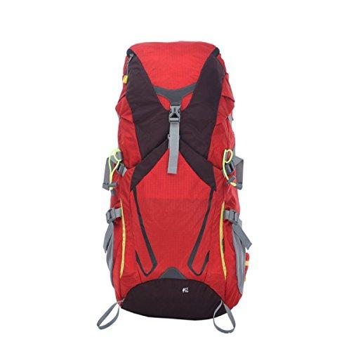 Outdoor Hiking 45L Zaino Impermeabile Borsa Da Viaggio Grande Zaino Da Trekking,Red Red