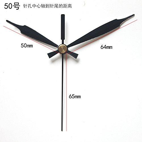 Reichen Schwarzen Finish (y-hui anti-sec Mute Uhren Motor nicht Baum A Schraube Snap Uhr Quarz Chip, 10Zoll (25,5cm) in Durchmesser, die Rezept für das Herz Star Aufnahme 8+ 16Schwarz Pin)