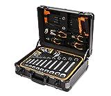 KENDO Werkzeugkoffer | Werkzeugbox mit Werkzeug | bestückt - 124-tlg.