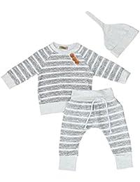 Ropa Bebe Niño Invierno, Zolimx 3Pcs Bebé Recién Nacido Niño Niña Ropa de Rayas Camiseta Tops +…