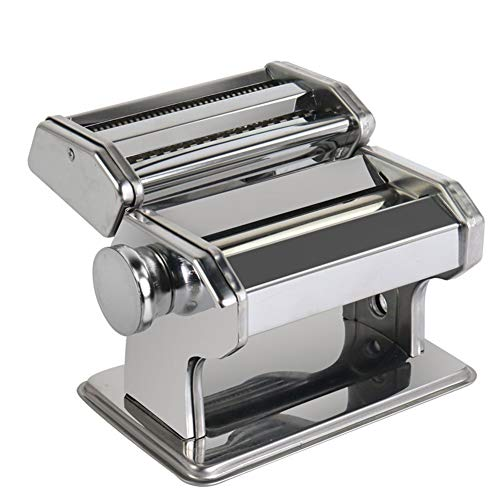 ZHENHAO Pasta Maker Set All in One 6 Thickness Settings Durable and Easy to Roll for Fresh Homemade Fettuccine Spaghetti Dough Roller Press Cutter Noodle Making Machine