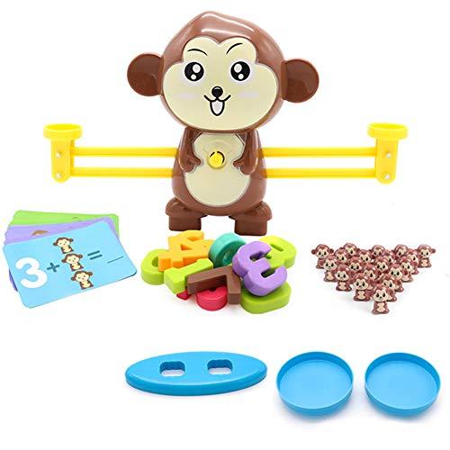 MAyouth Waage Spielzeug Spa Mathematik Kiddie Waage Rechner Cartoon AFFE Intelligenz Frherziehung Spielzeug